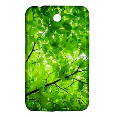 Green Wood The Leaves Twig Leaf Texture Samsung Galaxy Tab 3 (7 ) P3200 Hardshell Case