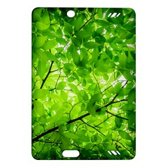 Green Wood The Leaves Twig Leaf Texture Amazon Kindle Fire Hd (2013) Hardshell Case by Nexatart