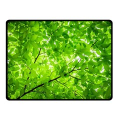 Green Wood The Leaves Twig Leaf Texture Double Sided Fleece Blanket (small)