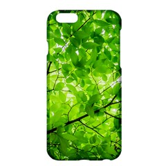 Green Wood The Leaves Twig Leaf Texture Apple Iphone 6 Plus/6s Plus Hardshell Case by Nexatart