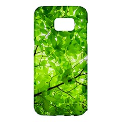 Green Wood The Leaves Twig Leaf Texture Samsung Galaxy S7 Edge Hardshell Case