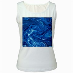 Abstract Pattern Texture Art Women s White Tank Top