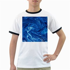 Abstract Pattern Texture Art Ringer T Shirts