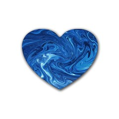 Abstract Pattern Texture Art Heart Coaster (4 Pack)
