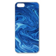 Abstract Pattern Texture Art Apple Seamless Iphone 5 Case (clear)