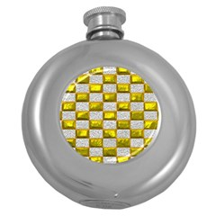 Pattern Desktop Square Wallpaper Round Hip Flask (5 Oz)
