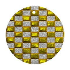 Pattern Desktop Square Wallpaper Round Ornament (two Sides)