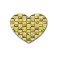 Pattern Desktop Square Wallpaper Rubber Coaster (heart)