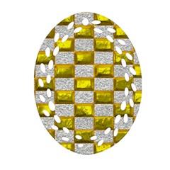 Pattern Desktop Square Wallpaper Oval Filigree Ornament (two Sides)