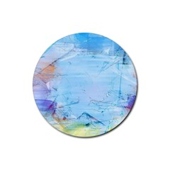 Background Art Abstract Watercolor Rubber Round Coaster (4 Pack)  by Nexatart