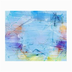 Background Art Abstract Watercolor Small Glasses Cloth (2 Side)