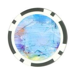 Background Art Abstract Watercolor Poker Chip Card Guard (10 Pack)