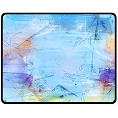 Background Art Abstract Watercolor Fleece Blanket (medium)