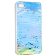 Background Art Abstract Watercolor Apple Iphone 4/4s Seamless Case (white)