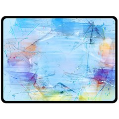 Background Art Abstract Watercolor Double Sided Fleece Blanket (large)  by Nexatart