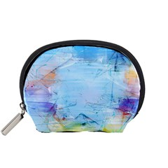 Background Art Abstract Watercolor Accessory Pouches (small)  by Nexatart
