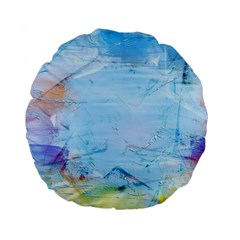 Background Art Abstract Watercolor Standard 15  Premium Flano Round Cushions