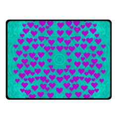 Raining Love And Hearts In The  Wonderful Sky Fleece Blanket (small) by pepitasart