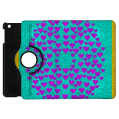 Raining Love And Hearts In The  Wonderful Sky Apple Ipad Mini Flip 360 Case by pepitasart