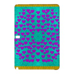 Raining Love And Hearts In The  Wonderful Sky Samsung Galaxy Tab Pro 10 1 Hardshell Case by pepitasart
