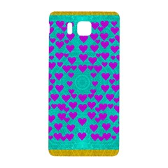 Raining Love And Hearts In The  Wonderful Sky Samsung Galaxy Alpha Hardshell Back Case by pepitasart