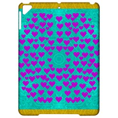 Raining Love And Hearts In The  Wonderful Sky Apple Ipad Pro 9 7   Hardshell Case by pepitasart