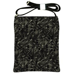 Abstract Collage Patchwork Pattern Shoulder Sling Bags by dflcprints