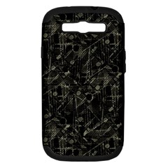 Abstract Collage Patchwork Pattern Samsung Galaxy S Iii Hardshell Case (pc+silicone) by dflcprints