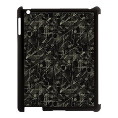 Abstract Collage Patchwork Pattern Apple Ipad 3/4 Case (black) by dflcprints