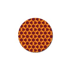 Black And Orange Diamond Pattern Golf Ball Marker (10 Pack) by Fractalsandkaleidoscopes