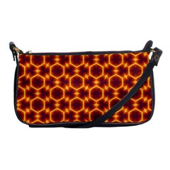 Black And Orange Diamond Pattern Shoulder Clutch Bags by Fractalsandkaleidoscopes