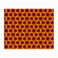 Black And Orange Diamond Pattern Small Glasses Cloth (2 Side) by Fractalsandkaleidoscopes