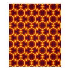 Black And Orange Diamond Pattern Shower Curtain 60  X 72  (medium)  by Fractalsandkaleidoscopes