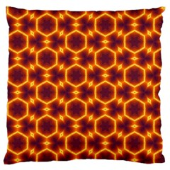 Black And Orange Diamond Pattern Large Cushion Case (two Sides) by Fractalsandkaleidoscopes