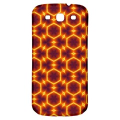 Black And Orange Diamond Pattern Samsung Galaxy S3 S Iii Classic Hardshell Back Case by Fractalsandkaleidoscopes