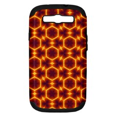 Black And Orange Diamond Pattern Samsung Galaxy S Iii Hardshell Case (pc+silicone) by Fractalsandkaleidoscopes