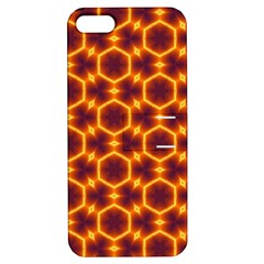 Black And Orange Diamond Pattern Apple Iphone 5 Hardshell Case With Stand by Fractalsandkaleidoscopes