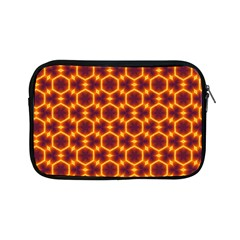Black And Orange Diamond Pattern Apple Ipad Mini Zipper Cases by Fractalsandkaleidoscopes