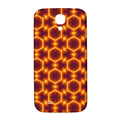 Black And Orange Diamond Pattern Samsung Galaxy S4 I9500/i9505  Hardshell Back Case by Fractalsandkaleidoscopes
