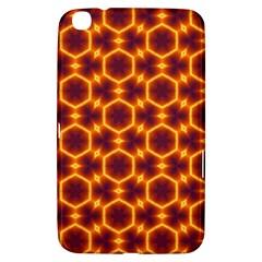 Black And Orange Diamond Pattern Samsung Galaxy Tab 3 (8 ) T3100 Hardshell Case  by Fractalsandkaleidoscopes