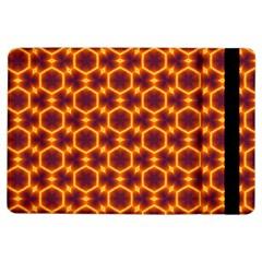 Black And Orange Diamond Pattern Ipad Air Flip by Fractalsandkaleidoscopes