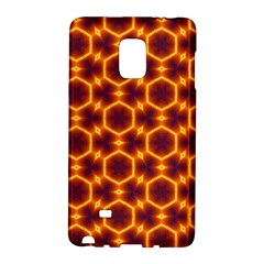Black And Orange Diamond Pattern Galaxy Note Edge by Fractalsandkaleidoscopes