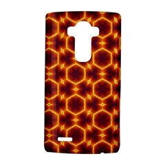 Black And Orange Diamond Pattern Lg G4 Hardshell Case by Fractalsandkaleidoscopes