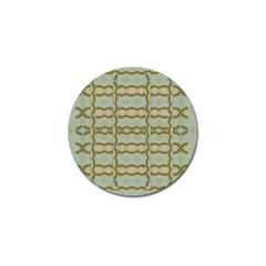 Celtic Wood Knots In Decorative Gold Golf Ball Marker (10 Pack) by pepitasart