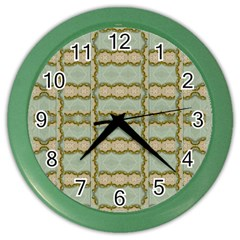 Celtic Wood Knots In Decorative Gold Color Wall Clocks by pepitasart