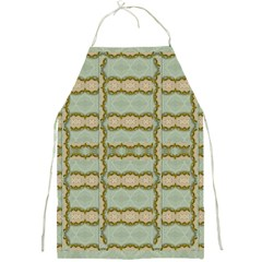 Celtic Wood Knots In Decorative Gold Full Print Aprons by pepitasart