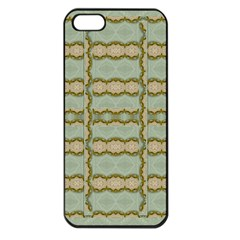 Celtic Wood Knots In Decorative Gold Apple Iphone 5 Seamless Case (black) by pepitasart