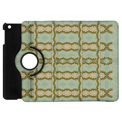 Celtic Wood Knots In Decorative Gold Apple Ipad Mini Flip 360 Case by pepitasart