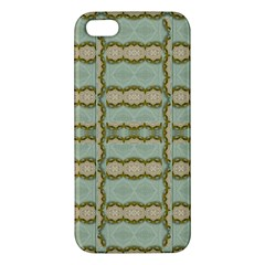 Celtic Wood Knots In Decorative Gold Apple Iphone 5 Premium Hardshell Case by pepitasart