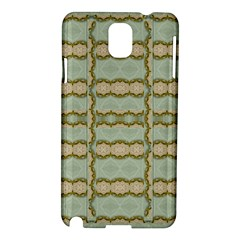 Celtic Wood Knots In Decorative Gold Samsung Galaxy Note 3 N9005 Hardshell Case by pepitasart